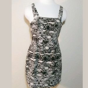 ANTHROPOLOGIE SILENCE & NOISE SNAKE PRINT DRESS